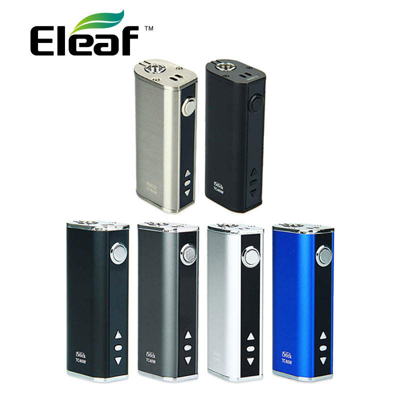 Electronic Cigarette Eleaf IStick TC 40W Box MOD Built In 2600mAh Battery New Color 40w Battery Mod Vape Vs 50W IStick Box MOD