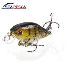 SEAPESCA Minnow font b Fishing b font Lure 4cm 4 2g Crank Hard Bait artificial Wobblers