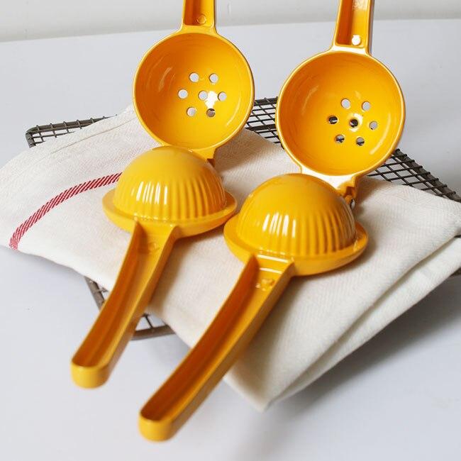 Aluminum die-casting bright yellow lemon juicer Orange fruit manually-pressing juice bakery kitchen tools