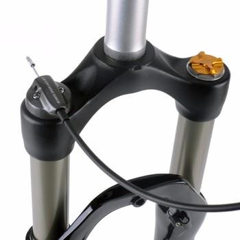 1 stücke UDING Remote Lock Verjüngt Gerade Rohr Air Gas Suspension Gabel 650b 26 27,5 29 100mm Reise für MTB Mountainbike Fahrrad