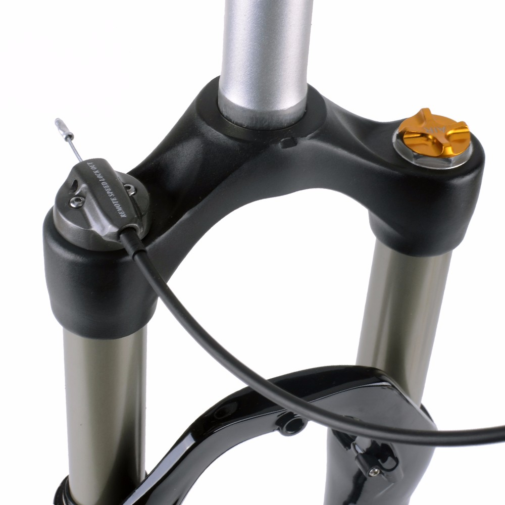 BOLANY MTB Bicycle Air Fork 26//27.5//29 Inch Lock Straight Tapered Mountain Fork