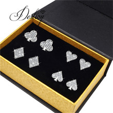 Destiny Jewellery Embellished with crystals from Swarovski jewelry sets Trendy Sweet Heart jewellry sets DS058(China)