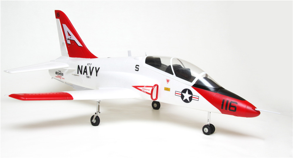 FMS RC Airplane 70mm T45 T-45 Goshawk Ducted Fan EDF Jet Big Scale Model Plane Aircraft PNP 6S with Retracts Flaps