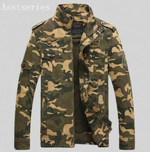 Asstseries Men's jackets Autumn And Winter Men bomber jacket Military Aviation  Large size air force one Men's Clothing M-6XL