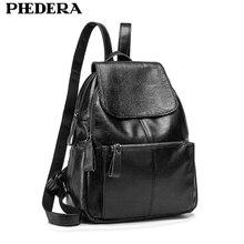 Новый высокое качество Разделение кожа женщины рюкзак модные женские рюкзаки кожа подросток колледж школьные сумки на ремне