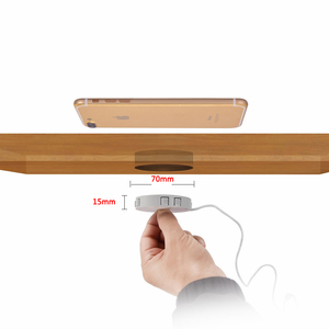 Image 2 - צ י בלתי נראה אלחוטי מטען שולחן טעינת Pad ריהוט שולחן מוטבע עבור IPhone 11 XR Xiaomi קל התקנה נוח