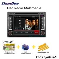 Liandlee For Toyota xA 2004~2006 2 din Car Android GPS Navi Navigation Maps Radio CD DVD Player Video Stereo OBD2 Audio TV