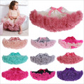 Fashion Fluffy Chiffon Pettiskirt tutu Baby Girls Skirts Princess skirt Ballet dance tutu skirt for 2-8 years 19 colors 8pcs/lot