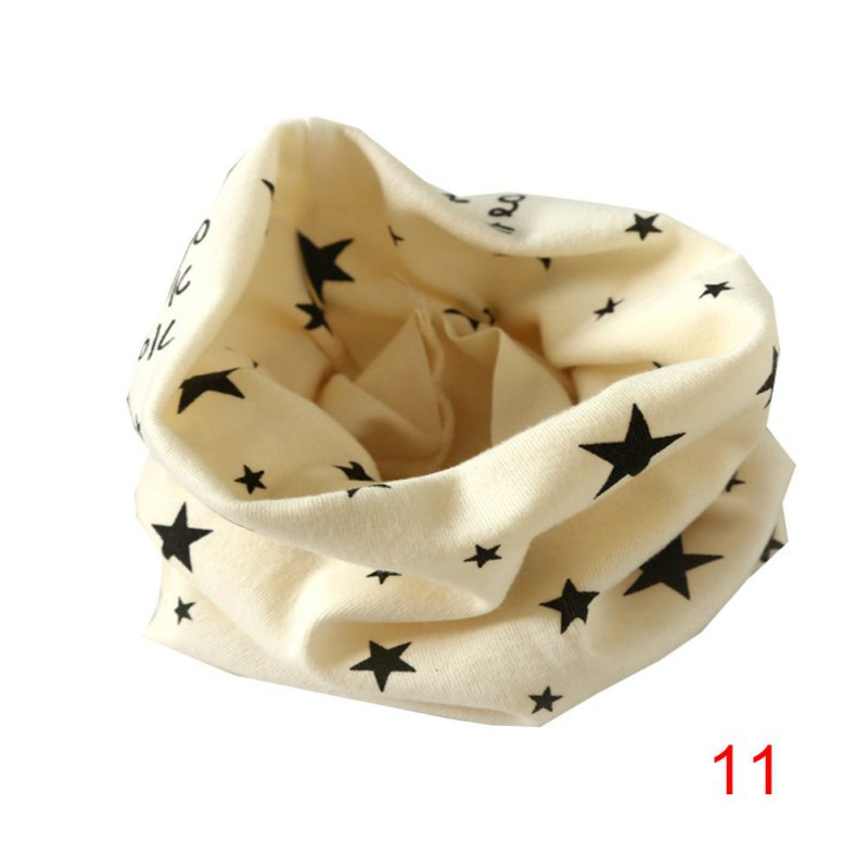 2016 Autumn Winter Boys Girls Collar Baby Heart Star Butterfly Scarf Cotton O Ring Neck Scarves Children Ring Scarf S4