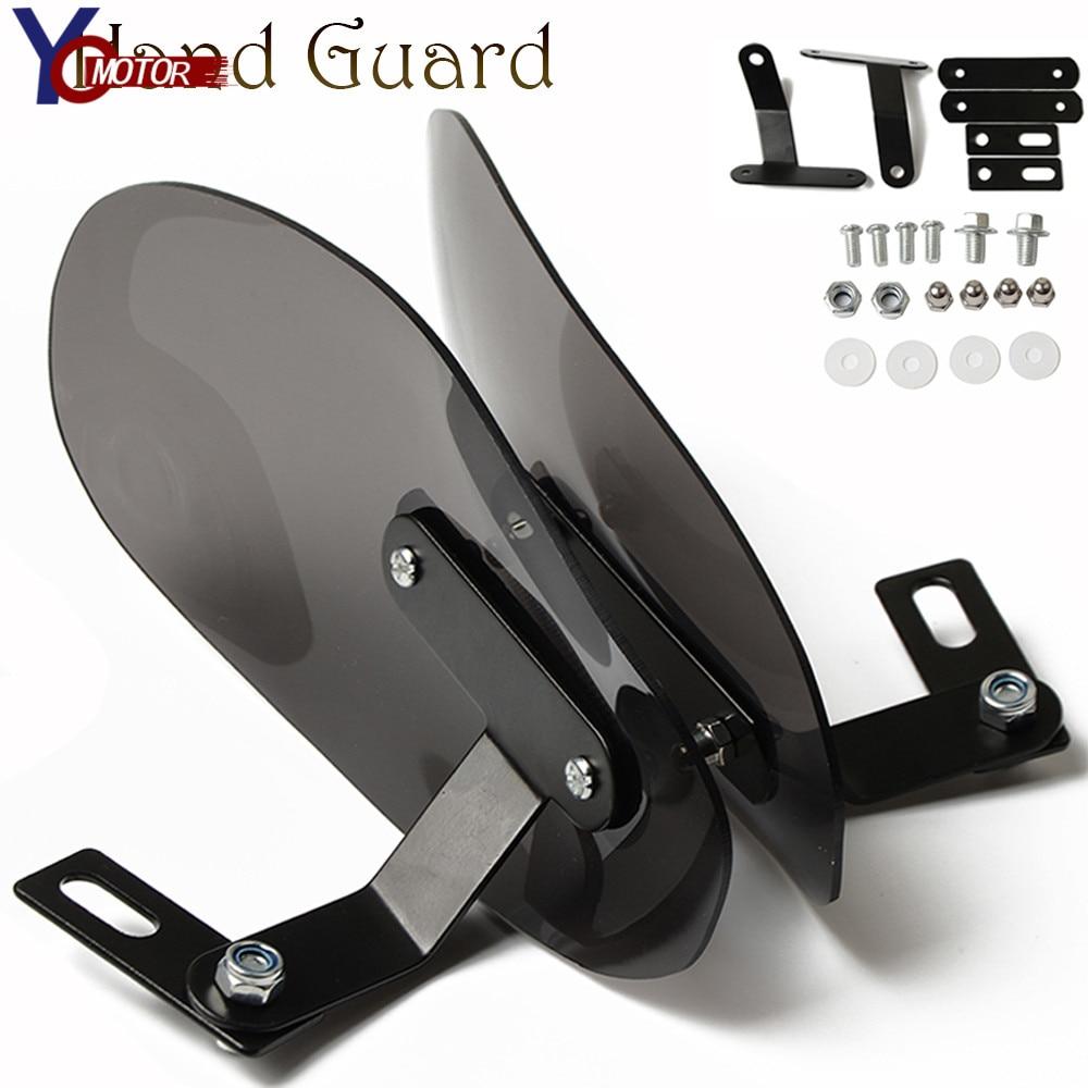 Pair of Black Universal Motorcycle Hand Protectors Retrofit Kit Hand Wrap Hand Protector 22 Mm 7//8