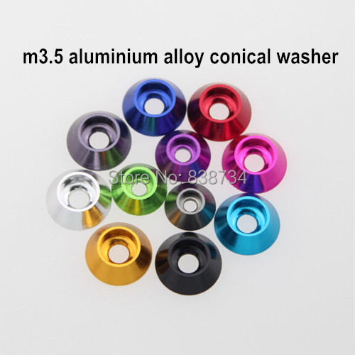 50pcs M3.5 Aluminium Alloy Nutural Color Car Model Fender Washer Fender Gasket Fender Shim Spacer