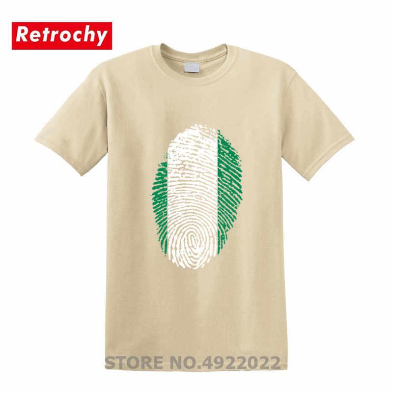ניגריה דגל טביעות אצבע T חולצות אופנה יום הולדת משפחת המפלגה Tshirt יוניסקס מזדמן לאומי יום חולצות Senpai קאנג 'י למעלה Tees