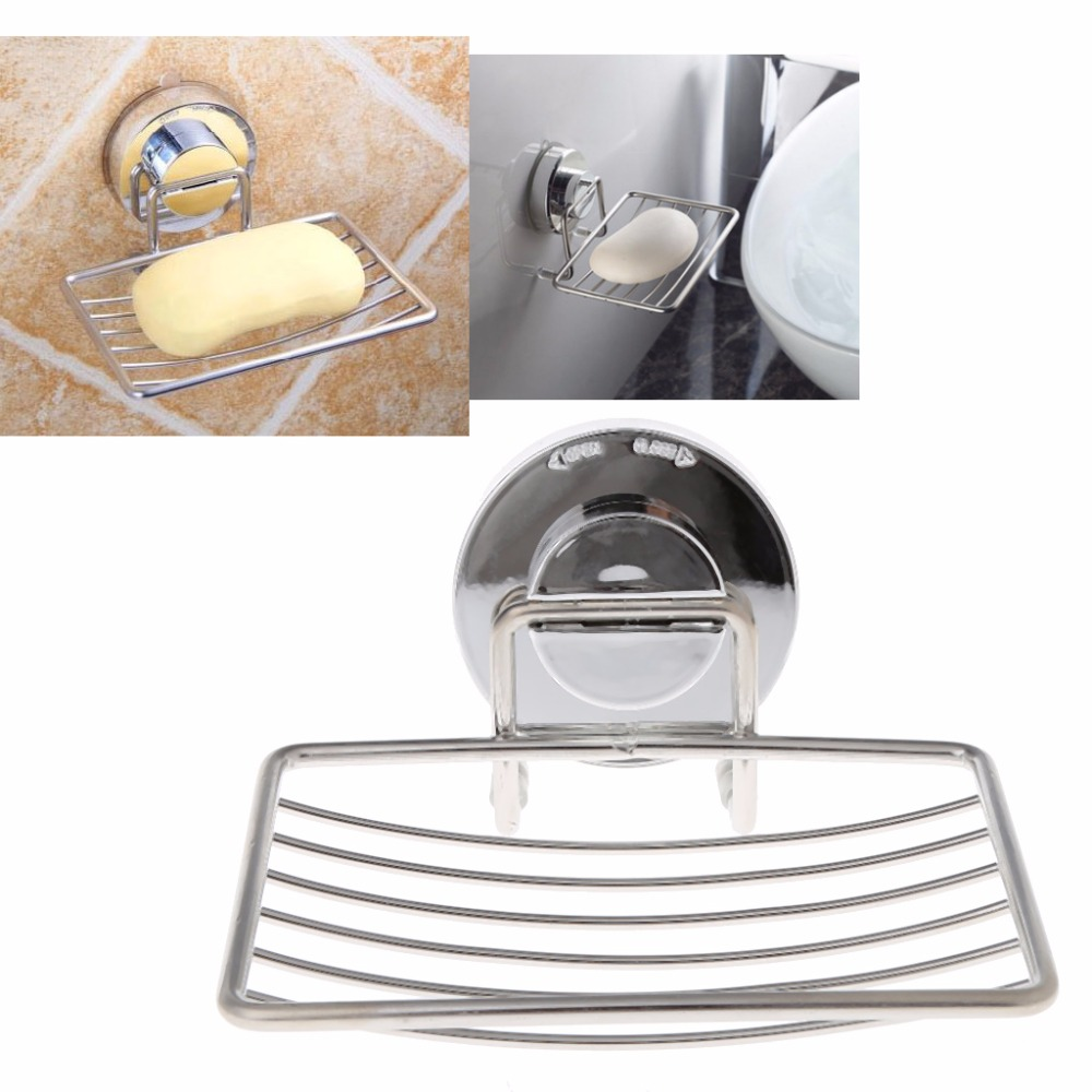 Bathroom Accessories Vacuum Suction Cup Soap Holder Cup Soap Storage Saver