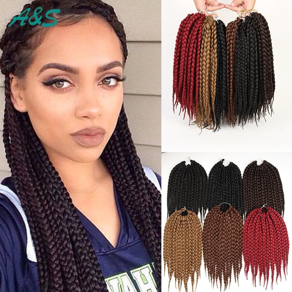 12 18 24available Jumbo Box Braids Crochet Hair 12strandspcs