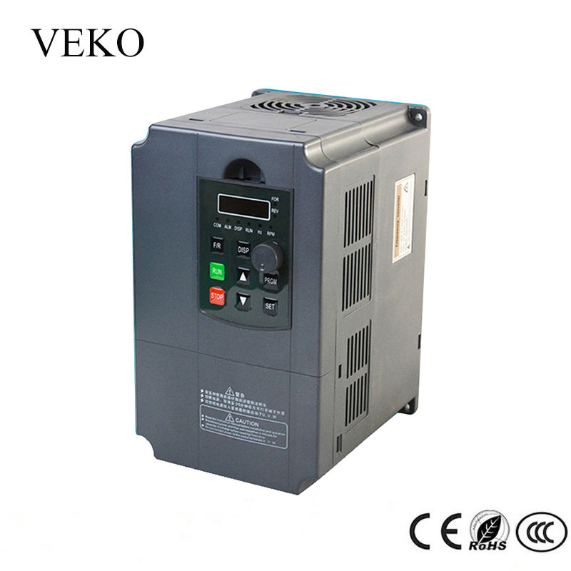 7 5KW 220V AC Single Phase Input 3Phase Output 30A Frequency Converter VFD Frequency Inverter Motor