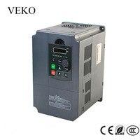 7.5KW 220 V AC fase única entrada 3 Salida de fase 30A convertidor de frecuencia VFD inversor de frecuencia Motor controlador 50 /60Hz
