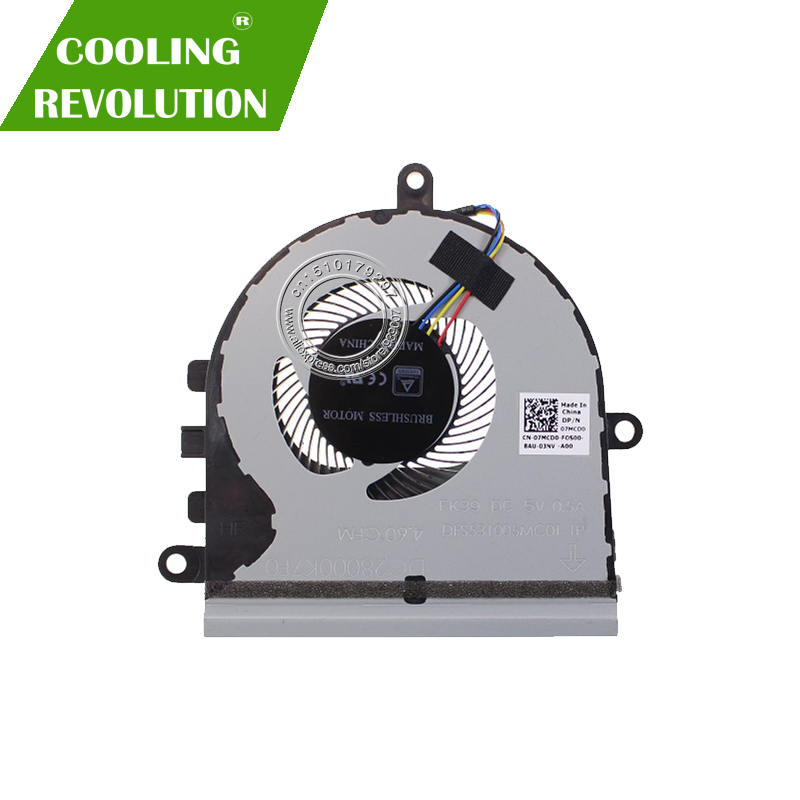 Brand New Original For DELL INSPIRON 15-5570 P75F SERIES CPU COOLING FAN 07MCD0