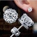 925 silver earrings 1 karat AAA CZ diamond stud earrings   crown earrings  (E710802)