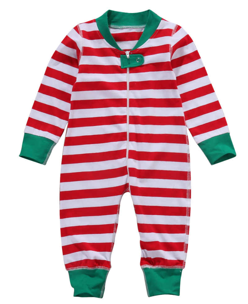 Christmas Stripes Newborn Baby Rompers 2017 Brand Boy Girl Long Sleeve Zipper One-piece Romper Jumpsuit Red Green Baby Gift newborn baby rompers baby clothing 100% cotton infant jumpsuit ropa bebe long sleeve girl boys rompers costumes baby romper