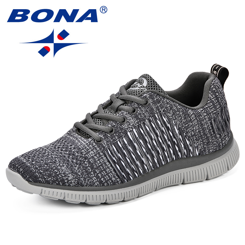 BONA New Fashion Popular Mens Casual Shoes Lace-Up Breathable Shoes Sneakers Men Comfortable Light Trainers Zapatillas Hombre