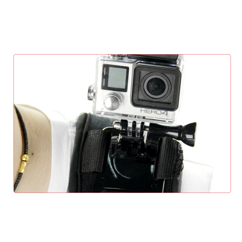 SnowHu For shoulder Strap Mount for Gopro Hero 7 6 5 4 3 2 SJ4000 Action Camera Chest Harness Belt Adapter For Go pro GP199 in Sports Camcorder Cases from Consumer Electronics