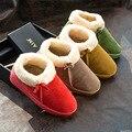 2016 nuevo estilo de moda mujeres sólido espesar botas de nieve femenina arco causal cálidos botines planos cómodos zapatos ST1517