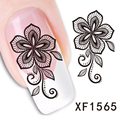 XF1565-Fashion New style Water Transfer Stickers 1 Sheets 3D Design DIY Nail Art Decorations Nail Sticker Nail Decal Nail Tools