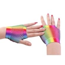 2019 Womens Mesh Short Gloves Fashion Sexy Fishnet Gloves La