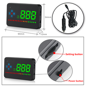 Image 5 - GEYIREN A2 HUD GPS prędkościomierz cyfrowy wyświetlacz Head Up ostrzeżenie o przekroczeniu prędkości Alarm projektor przedniej szyby do samochodu