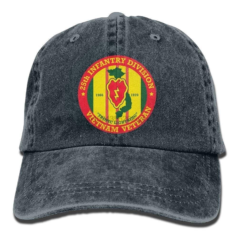 e38c87873ec Funny 25th Infantry Division Vietnam Veteran Denim Cowboy Adjustable Visor  Sun Baseball Caps Hats