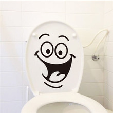 DCTOP Big Smile Face Toilet Sticker Funny Diy Wall Sticker Home Decal Mural Art Waterproof Adhesive Poster