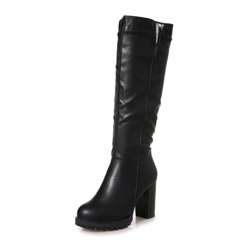 Zapatos Hasta Alta Nueva Las Redondo 5 Del 2018 Rodilla La Pie Caliente Mujer Invierno Martin Negro 8 Cristal Decoración Mujeres Cm Botas Moda Casco Dedo De gRq0p