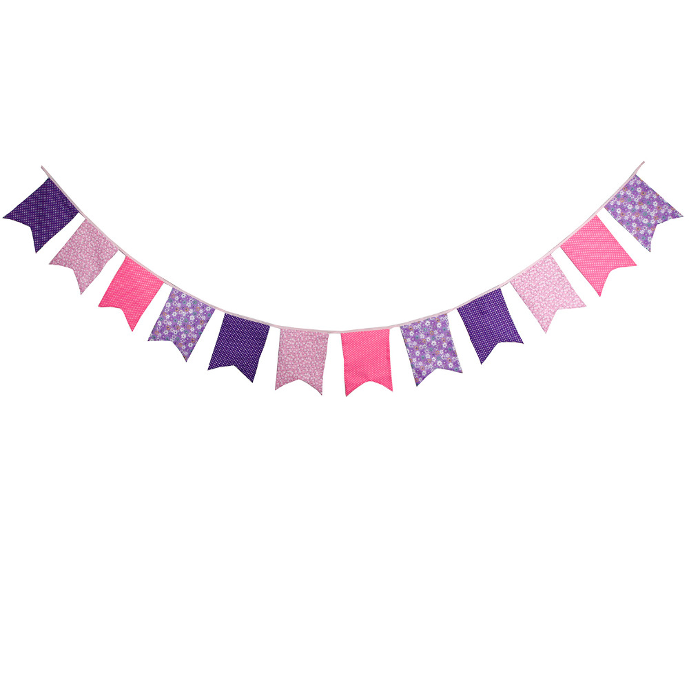 Aliexpress.com : Buy New 12 Flags Pink Purple Bunting