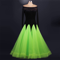 2018 Ballroom Dresses Stage Costumes For Singers Woman Latin Dress Tango Costume Viennese Waltz Dresses Fox Trot Jigs