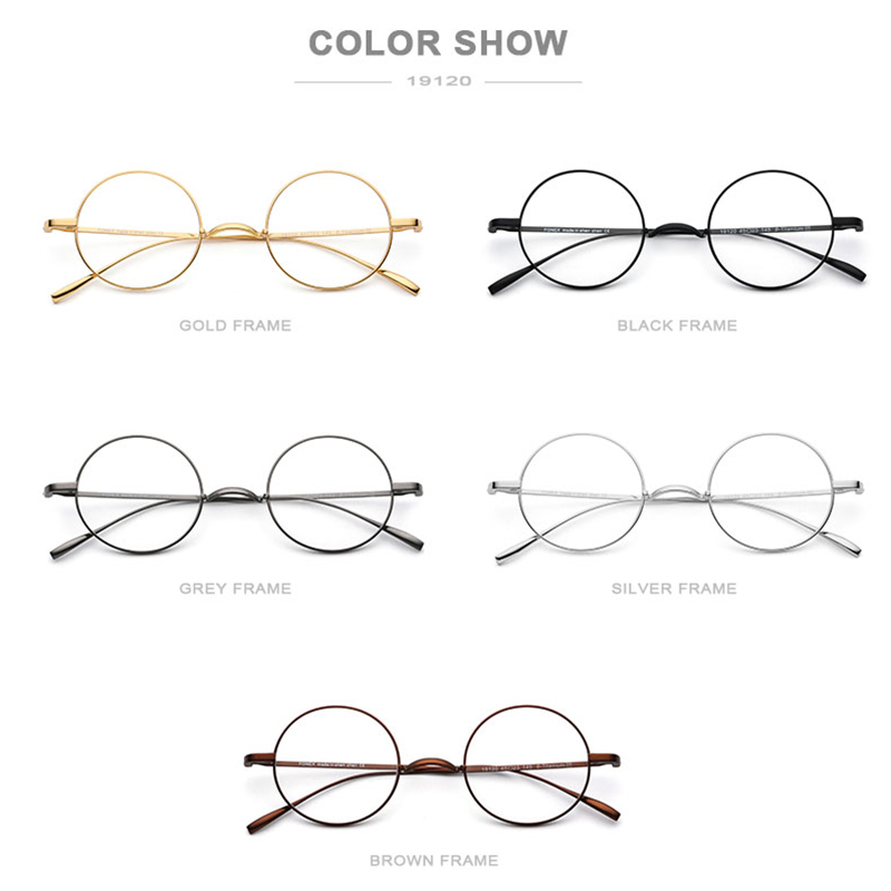 Image 5 - B Titanium Glasses Frame Men Ultralight Small Round Myopia Optical Prescription Eyeglasses Frames Women Vintage Eyewear 9120-in Men's Eyewear Frames from Apparel Accessories