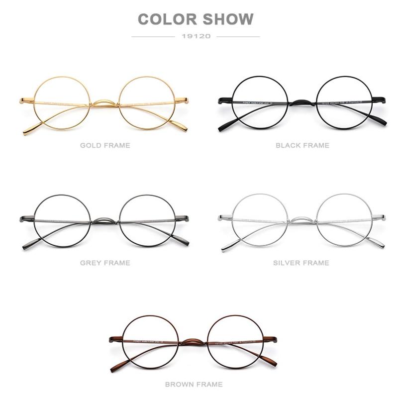 B titane lunettes cadre hommes ultraléger rétro petit rond myopie optique Prescription lunettes cadres femmes Vintage lunettes - 5