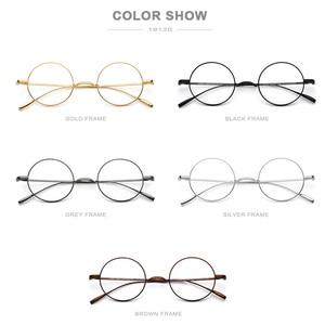 Image 5 - FONEX tytanowa ramka do okularów mężczyźni Ultralight okrągłe krótkowzroczność okulary korekcyjne optyczne ramki kobiety w stylu Vintage okulary 9120