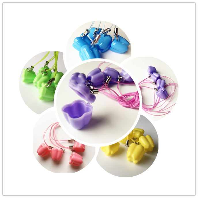 5pcs Multicolor Milk Tooth Box baby tooth box Children's Dental case the Gift from tooth fairy(China)