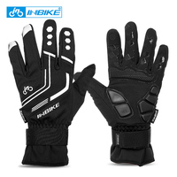 2016 INBIKE Winter Cycling Gloves Gel Padded Thermal Full Finger Bike Bicycle Gloves Touch Screen Windproof