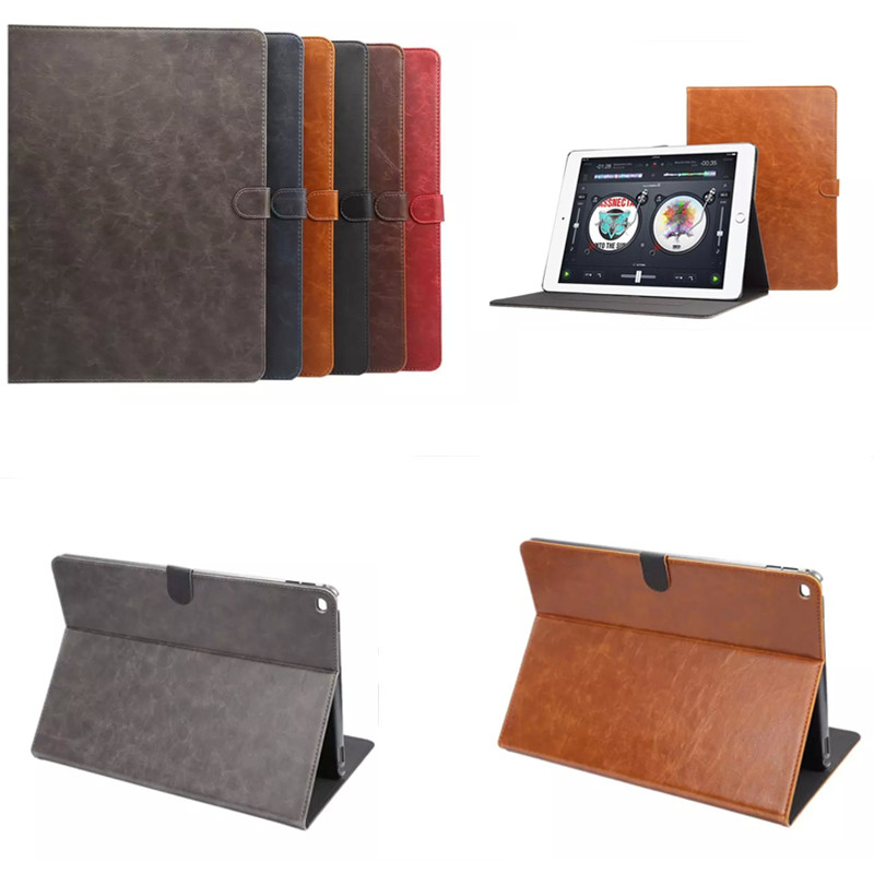 Fashion High Quality Crazy Horse pattern With Stand Flip PU Leather For Apple iPad pro 12.9 inch A1584  A1652 Tablet Case Cover top quality hot selling fashion design anchors pattern flip stand leather case cover for ipad mini 2 retina jul 12