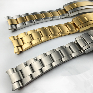Image 2 - MERJUST 20mm 316lL Silver Gold Stainless steel Watch Bands Strap For RX Daytona Submarine Role Sub mariner Wristband Bracelet