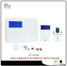 2017 New Wi-Fi GSM Home Alarm System Wifi Security Alarm System Andriod/IOS APP Free Control With Wifi Camera