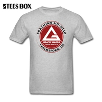 T Shirts Jungs GB Chelmsford Gracie Kämpfer T-Shirt Brazilian Jiu Jitsu BJJ Herren Schwarz Tops Mann Rundhals T-shirt Plus Größe