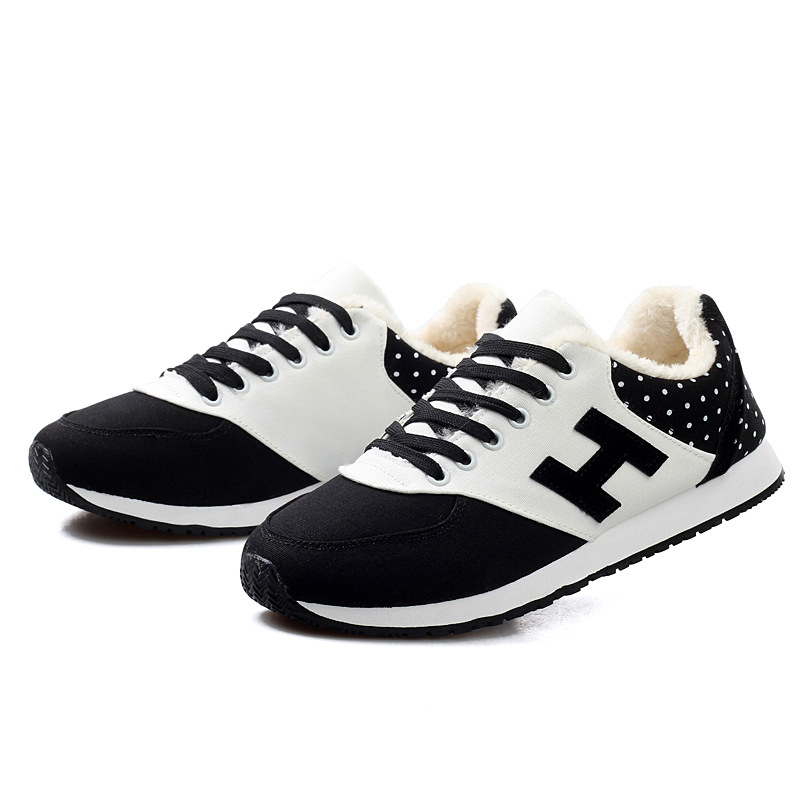 The New Winter Couple Models Canvas N Word Warm Male Sports N Letters Plus  Velvet Shoes Women Low Shoes -in Men s Casual Shoes from Shoes on  Aliexpress.com ... af10d887f05
