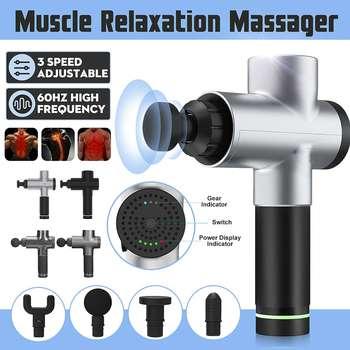 Professional Fascia Guns Muscle Relaxation Massager Gym High Frequency Vibration Percussion Massage 4 massage heads