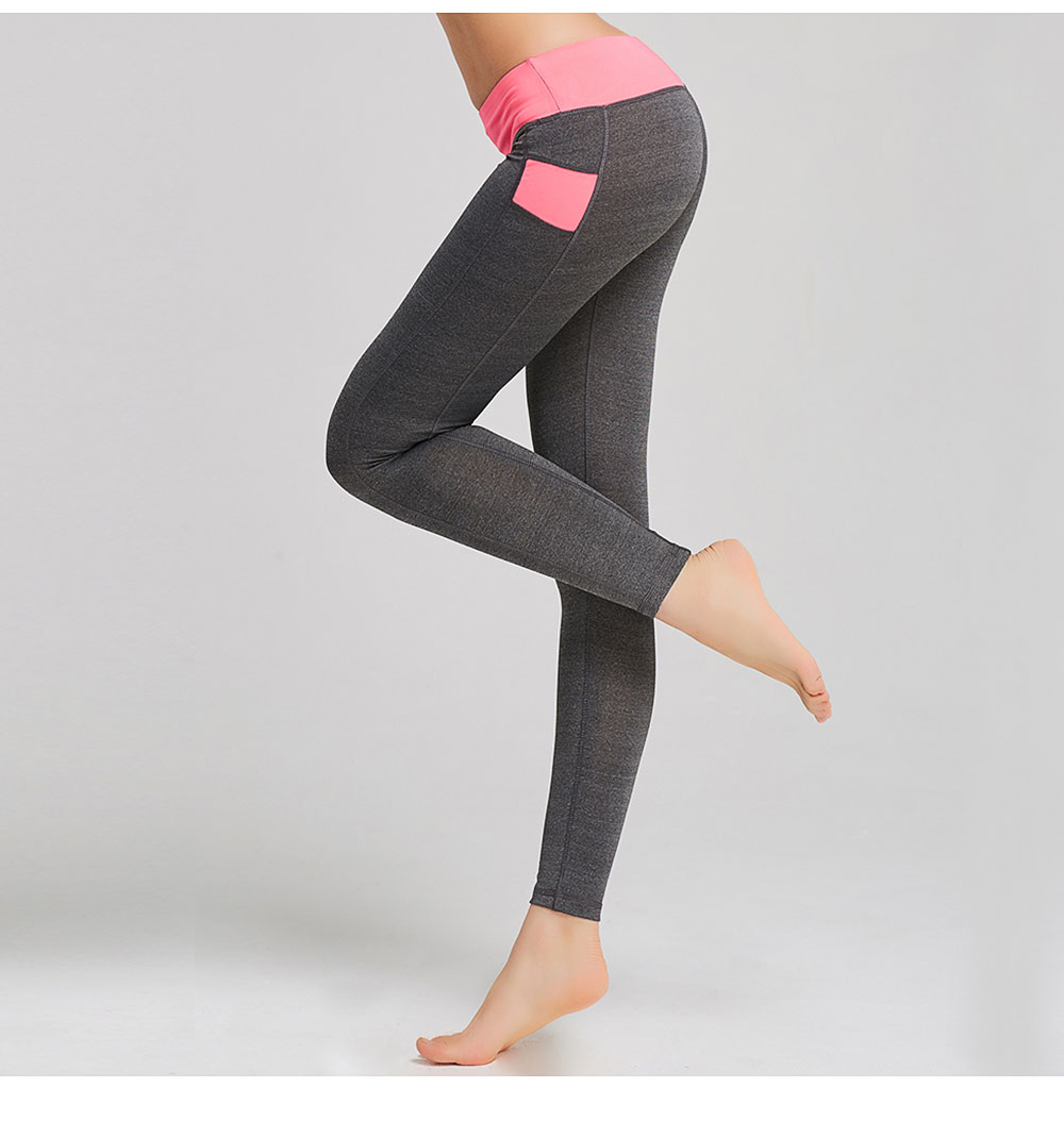 d9fd15f003015 ALBREDA Women Elastic Middle waist Yoga Pants Fitness Bodybuilding Yoga  Sport Leggings Running Trousers Quick dry Tights pant