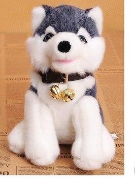 Чучело яркий husky dog плюшевые игрушки около 20 см мягкие куклы t7080