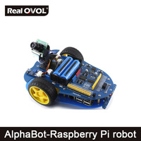 AlphaBot Pi Raspberry Pi robot building kit: Original Element14 Raspberry Pi 3 Model B+AlphaBot +Camera,with US/EU power adapter