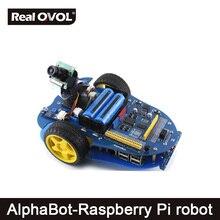 Wholesale AlphaBot-Pi Raspberry Pi robot building kit: Original Element14 Raspberry Pi 3 Model B+AlphaBot +Camera,with US/EU power adapter