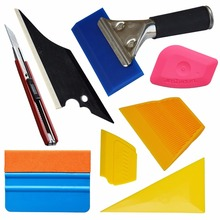EHDIS Car Cleaning Tools Kit Window Tints Tool Vinyl Cutter 3M Felt Squeegee Handle Rubber Squeegee Vinyl Car Wrap Tools TK01